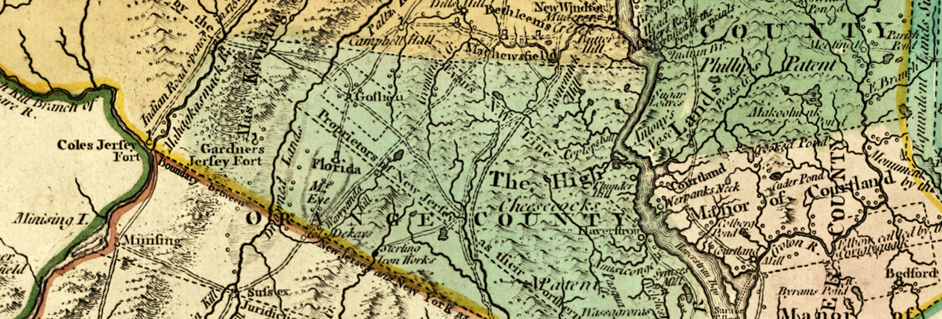 detail of 1776 map of Province of New York